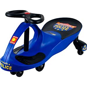 Lil' Rider Chief Justice Police Wiggle Ride-On Car,Blue