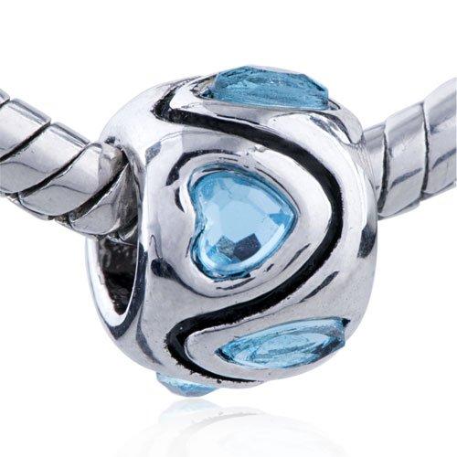 Heart Swarovski Crystal Bead Fits Pandora Beads Charm Bracelet