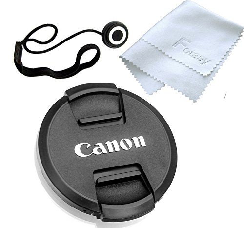 Fotasy 77mm Snap-On Lens Cap replaces E-72 II for Canon EOS Lenses, with Lens Keeper (Camera Lens Cap compare prices)