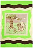 Mavis Beybis, alfombra niños, 120 x 180 cm, verdes (Grün)