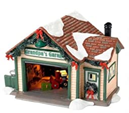 Department 56 Originial Snow Village Grandpa\'s Garage Lit House, 4.92-Inch