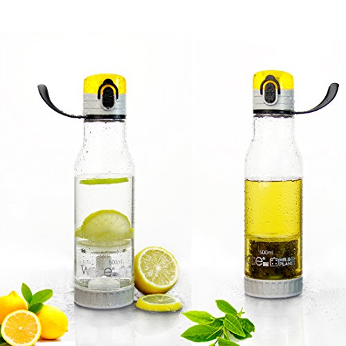 Tea Maker & Fruit Infuser/Strainer Sports Drink Water Bottle With Carry Strap