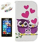 Lusee® PU Case Tasche für Nokia Microsoft Lumia 435