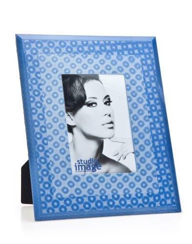 3d Blue Circles 4x6 Picture Frame