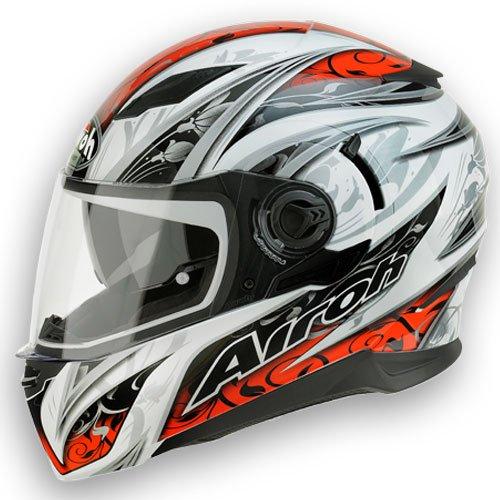 Airoh casque de moto mVF55 movement flowers :  rouge, taille 62