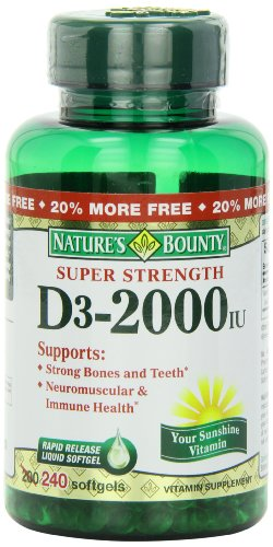 Nature'S Bounty Vitamin D-3, 2000 Iu Softgels, 240-Count