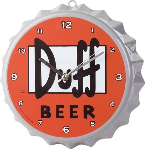 "The Simpsons Wanduhr ""Duff-Kronkorken"""