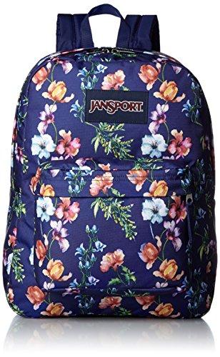 JanSport Womens Classic Mainstream Superbreak Backpack - Multi Navy Mountain Meadow