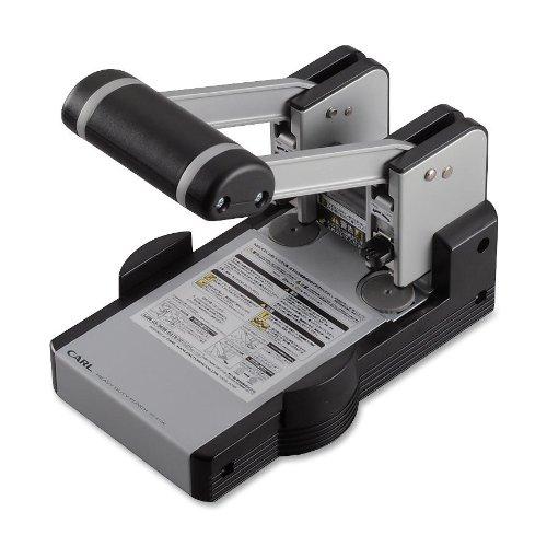 CARL 62100 Model xhc-2100 extra heavy-duty 100-sheet 2-hole punch, 9/32 dia., gray/blue