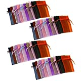 "48 Organza Drawstring Pouches Gift Bags Assorted Colors 4x5"" (As shown) Multicoloured"
