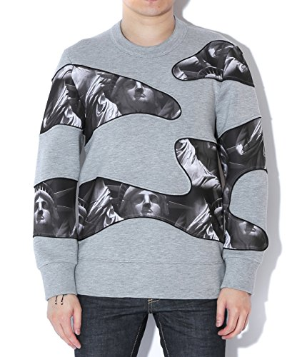 neil-barrett-mens-statue-print-wave-panel-pullover-xs-gray