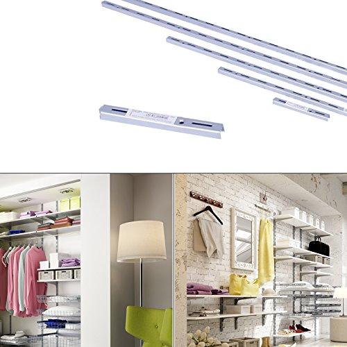 Regalsystem Wandleiste Wandschiene einreihig Wandregal Steckregal Regalträger 15cm Regalhalter