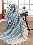 EHC 250 x 250cm, 100% Cotton Stripe G...