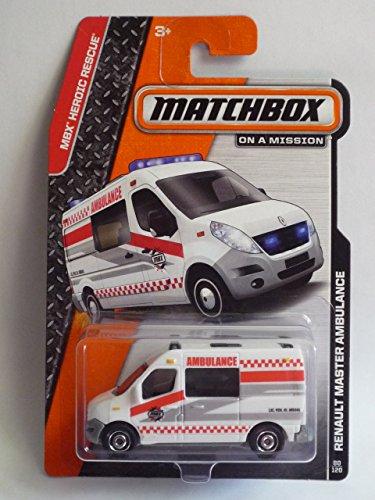 MATCHBOX 2014 RELEASE WHITE RENAULT MASTER AMBULANCE DIE-CAST - 1