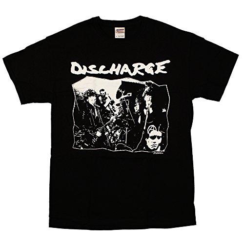 Discharge - Band Photo - Black T-Shirt, Size: Medium, Color: Black