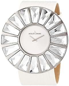 Jacques Lemans Damen-Armbanduhr Flora Analog Leder weiß 1-1638B