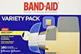 Band-Aid Brand Adhesive Bandages, Variety Pack, 280-Count Assorted Sizes (Pack of 2)