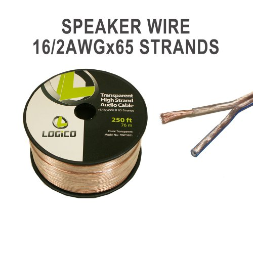 16-Gauge Speaker Wire - Audio Cable 250 Feet