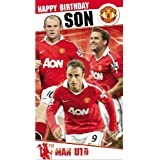 MANCHESTER UNITED - HAPPY BIRTHDAY SON - AND BADGE