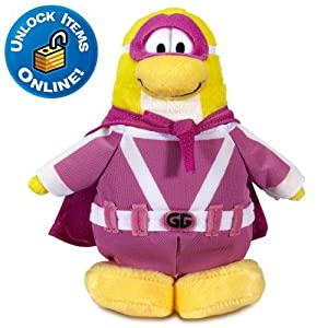 Disney Club Penguin 6'' Limited Edition Penguin Plush -- Gamma Gal (Semi Rare)