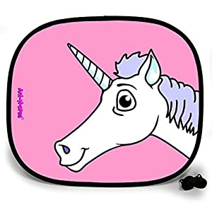 123t ANI-MATES UNICORN PLAIN Baby/Child Vehicle Sunshade x 1 birthday funny gift for him for her