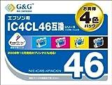G&G EPSON IC4CL46互換4個パック NIE-IC46-4PACKN