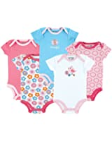 Luvable Friends Hanging 5 Pack Football Bodysuits