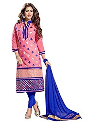 Amigos Fashion Women's Georgette Unstitched Dress Material (AF115)
