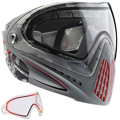 Dye I4 Thermal Paintball Googles W/ Extra Clear Sunrise Lens - Airstrike Red