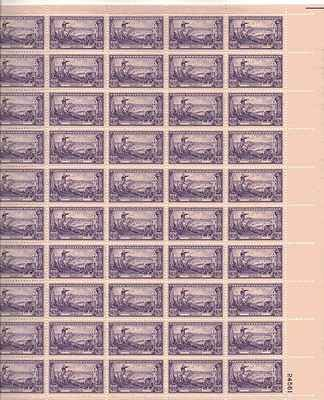 George Washington Evacuating Army Sheet of 50 x 3 Cent US Postage Stamps NEW