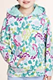 Cotton Rich Hooded Floral Pebble Towel Top [T77-4819B-Z]