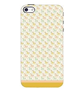 PrintDhaba Horse Pattern D-1502 Back Case Cover for APPLE IPHONE 5S (Multi-Coloured)