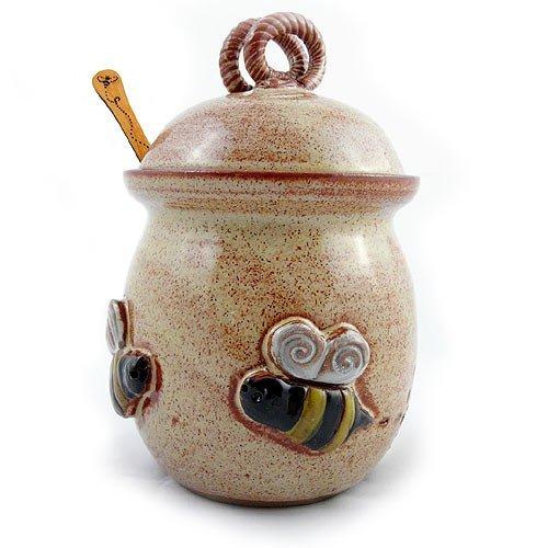 Modern Bee Honey Pot