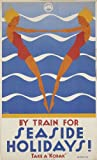 Vintage By Train For Seaside Holidays VTARP078 Canvas A1 Size
