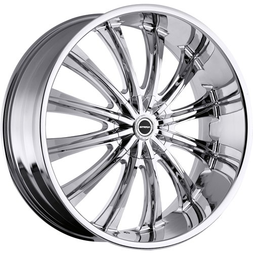 51Dz0jQFsVL Strada Corona 26 Chrome Wheel / Rim 5x115 & 5x120 with a 15mm