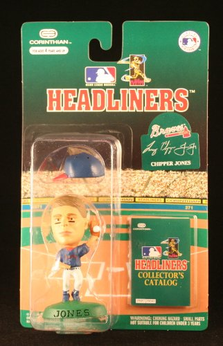CHIPPER JONES / ATLANTA BRAVES * 3 INCH * 1996 MLB Headliners Baseball Collector Figure - 1