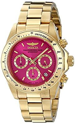 Invicta Women's 18255 Speedway 18k Gold Ion-Plated Watch with Link Bracelet