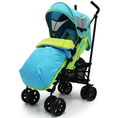 iSafe buggy Stroller Pushchair - Apple Slice Complete With Footmuff, HeadSupport and Raincover