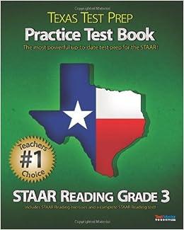TEXAS TEST PREP Practice Test Book STAAR Reading Grade 3 ...