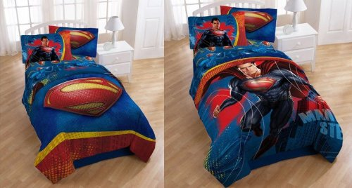 "Superman Movie ""Man of Steel"" Twin / Full Comforter ~ Reversible"