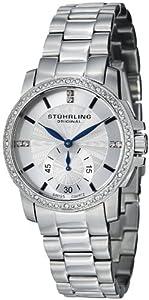 Stuhrling Original Women's 412.12112 Symphony Regent Duchess Swiss Quartz Swarovski Crystal Silver Dial Watch