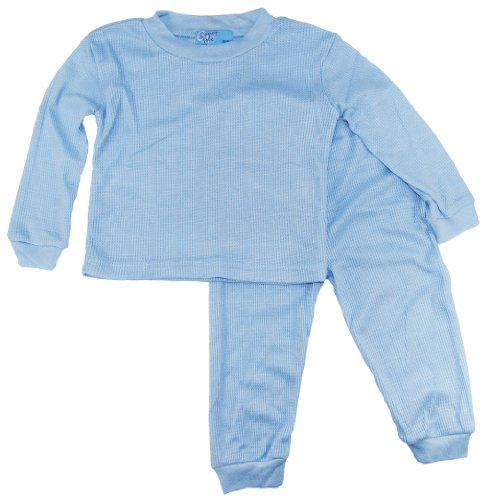 Coney Island Baby Boys Thermal Sleepwear Pajamas 2Pc 6-9Mblue back-872096