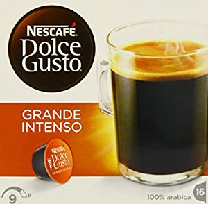 Nescafé Dolce Grande Intenso Coffee Pods 16 Capsules (Pack of 3, Total 48 Capsules, 48 servings)