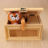 ZUINIUBI Pre-assembled Useless Box Cute Tiger Gimmicky Fun Geek Gadget Toy Gift Home Office Desk Decor