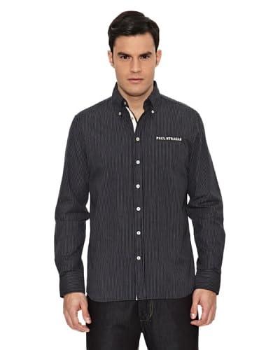 Paul Stragas Camisa Hombre Dixie Azul Marino / Blanco