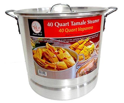 40 Qt Tamale Steamer Vaporera Stock Pot Premium Aluminum Tamalera 10 Gallons (40 Quart Tamale Steamer compare prices)
