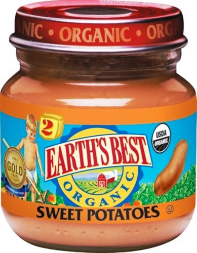 Earth's Best Organic 2nd Sweet Potatoes, 4 Ounce Jars (Pack of 12)
