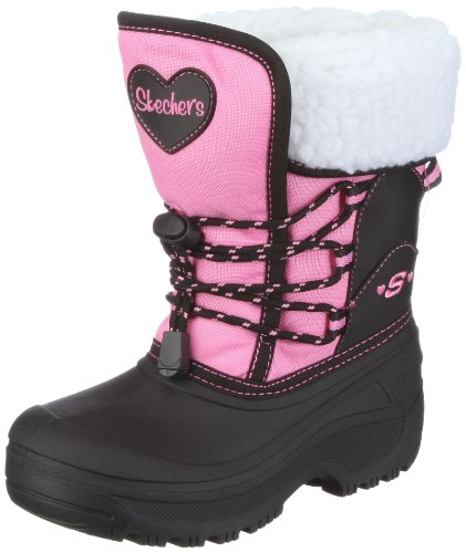 Skechers USA Junior Lil Frost Black Hot Pink Casual Shoe 88576l 13 Child UK