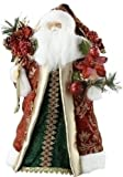 """Roman 18"""" Tall Santa with Floral Tree Topper"""