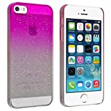 eForCity Clear Hot Pink Waterdrop Raindrop Hard Case compatible with Apple® iPhone® 5 / 5S